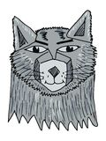 portrait de loup Images libres de droits