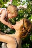 Portrait de mère et d'enfant heureux Photos libres de droits