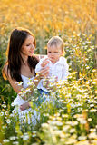 Portrait de mère et de fils Photographie stock libre de droits