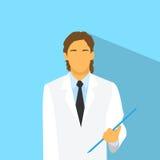 Portrait de médecin Profile Icon Male plat Photographie stock libre de droits