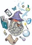Portrait de magicien illustration libre de droits