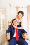 Portrait de marié et de jeune mariée photographie stock