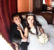 Portrait de marié et de jeune mariée photo stock