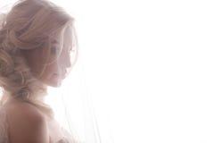 Portrait de mariage de la jeune mariée Images stock