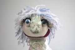 Portrait de marionnette de main sur le fond blanc Image stock