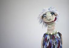 Portrait de marionnette de main sur le fond blanc Photographie stock