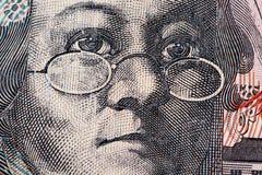 Portrait de Mary Reibey - plan rapproché de billet d'un dollar de l'Australien 20 Image stock