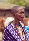 Portrait de masai Mara Image libre de droits