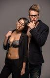 Portrait de mode d'un couple Image stock