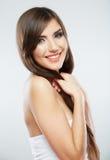 Portrait de mode de coiffure de femme Photographie stock