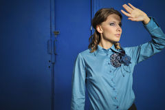 Portrait de mode de fille élégante Photographie stock libre de droits