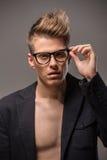 Portrait de mode de l'homme Image stock