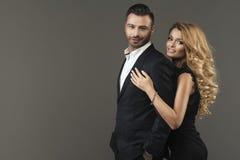 Portrait de mode des couples Photographie stock