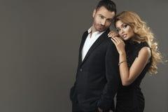 Portrait de mode des couples Photos libres de droits