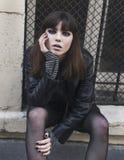Portrait de mode de jeune belle fille de l'adolescence photos libres de droits