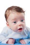 Portrait de 3 mois de bébé garçon Photo libre de droits