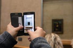 Portrait de Mona Lisa au musée de Louvre Images libres de droits