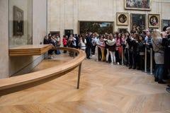Portrait de Mona Lisa au musée de Louvre Photographie stock