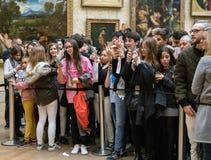 Portrait de Mona Lisa au musée de Louvre Photo libre de droits