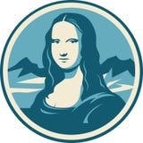 Portrait de Mona Lisa illustration de vecteur
