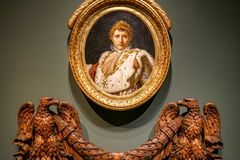 Portrait de napoléon au musée de MBAM Images libres de droits