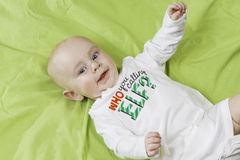 Portrait de Noël de bébé Image libre de droits