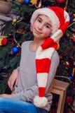 Portrait de Noël de la fille Image stock