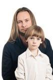 Portrait de père et de fils Photographie stock libre de droits