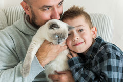 Portrait de père et de fils Image libre de droits
