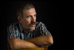 Portrait de paysan ukrainien mûr photographie stock libre de droits