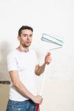 Portrait de peintre de mur Photos libres de droits