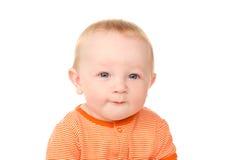 Portrait de petit bébé garçon drôle Photographie stock libre de droits