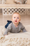 Portrait de petit bébé garçon mignon Photos libres de droits