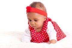 Portrait de petite fille de petit Afro-américain - personnes de race noire Photo stock