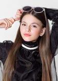 Portrait de petite fille modèle photo stock