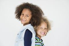 Portrait de petits enfants de cheveux bouclés illustration libre de droits