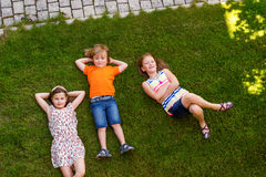 Portrait de petits enfants mignons Images libres de droits