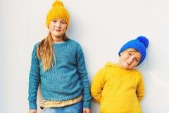 Portrait de petits enfants mignons Photographie stock
