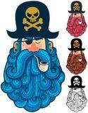 Portrait 2 de pirate illustration de vecteur