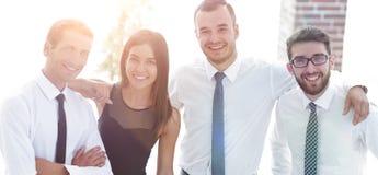 Portrait de plan rapproché d'équipe amicale d'affaires Photo stock