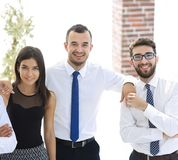 Portrait de plan rapproché d'équipe amicale d'affaires Photo libre de droits