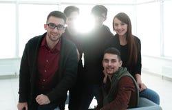 Portrait de plan rapproché d'équipe réussie d'affaires Photo libre de droits