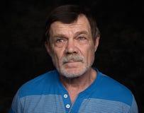 Portrait de plan rapproché d'homme plus âgé Image libre de droits