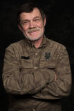 Portrait de plan rapproché d'homme plus âgé Image stock