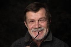 Portrait de plan rapproché d'homme plus âgé Photos stock