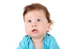 Portrait de plan rapproché d'un bébé mignon Photos stock