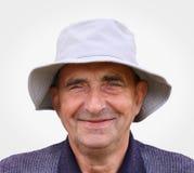 Portrait de plan rapproché d'un homme âgé très heureux Photographie stock libre de droits