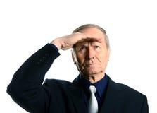 Portrait de plan rapproché d'un homme d'affaires dans un costume Photo libre de droits