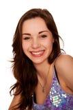 Portrait de plan rapproché de l'adolescence roux de sourire de fille. Images libres de droits