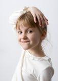 Portrait de plan rapproché de petite fille images stock